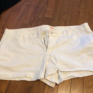 White trouser shorts from target